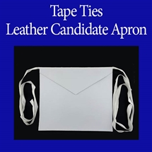 Masonic Candidate aprons - Leather - Tape Ties