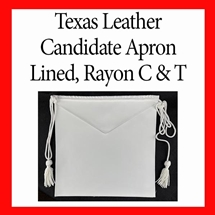Masonic Candidate aprons - Leather 16 x 16 inches Sold the Dozen