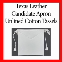 Texas Leather Candidate Apron, Unlined, Cotton C & T