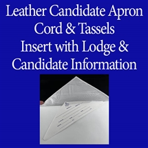 Leather Candidate Apron Plastic Flap with Insert