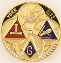 York Rite Mason Lapel Button