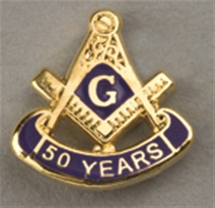 Masonic 50 Year Lapel Button
