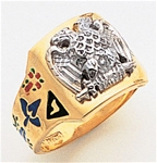 Masonic 32 Degree Scottish Rite Ring Macoy Publishing Masonic Supply 3376