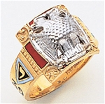 Masonic 32 Degree Scottish Rite Ring Macoy Publishing Masonic Supply 3378