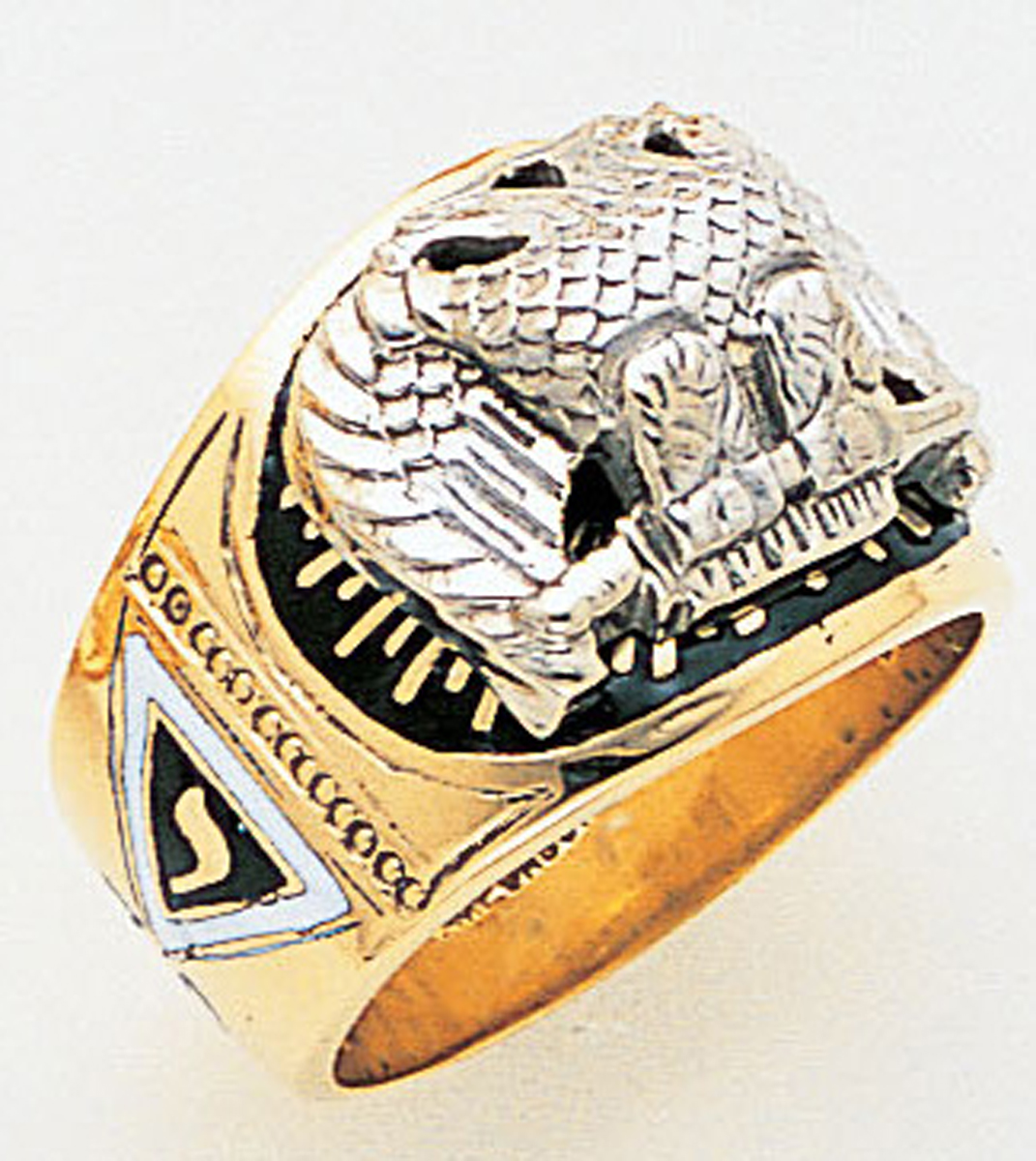 Gold 32 Degree Scottish Rite Ring - 3438 - Solid Back