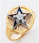 Order of the Eastern Star Ring Macoy Publishing Masonic Supply 3453