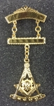 Masonic Past Master Swinger Jewel.