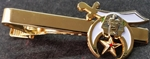 Gold tone and enamel tie bar with Shrine emblem