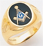 Masonic Ring - 5002 - solid back