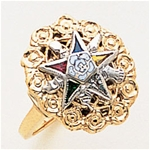 Order of the Eastern Star Ring Macoy Publishing Masonic Supply 5567