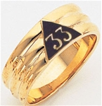 Scottish Rite Gold 33 Ring with Personalization