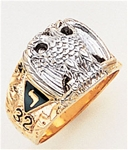 Masonic 32 Degree Scottish Rite Ring Macoy Publishing Masonic Supply 5736