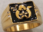 Stainless Steel Masonic Ring Black Finish