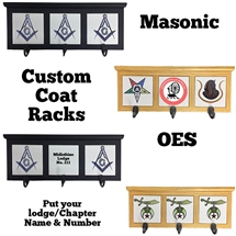 Custom Masonic/OES Coat Rack