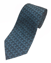 'Optical Illusion Officer' Silk woven Masonic Premium Tie Extra Long