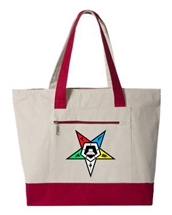 Custom Canvas OES Zipper Tote