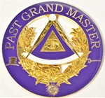 "Past Grand Master 3"" Metal cutout Auto Emblem"