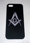 Black iPhone 6+ case w/ Silver Masonic emblem
