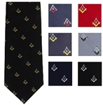Loom Woven Masonic Polyester Ties Assorted Colors