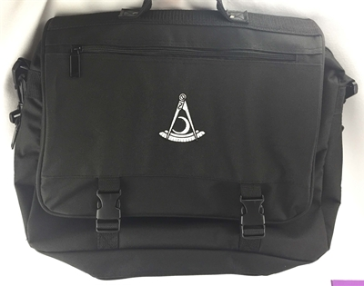 Past Distric Deputy Black with White Emblem Expandable Briefcase