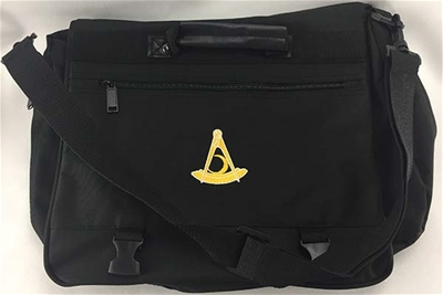 Past Distric Deputy Black with Yellow Emblem Expandable Briefcase