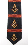 Masonic tie w/ repeat design
