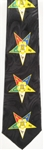Black OES Tie with 5 Color Star