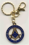 Metal Masonic Key Ring
