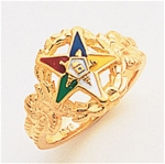 Order of the Eastern Star Ring Macoy Publishing Masonic Supply 8846