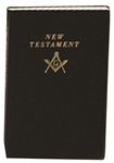 Masonic New Testament Bible Black cover