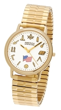 Masonic Working tools Watch with American Flag