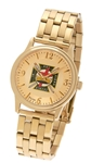 Knights Templar Watch by Bulova Goldtone foldover band