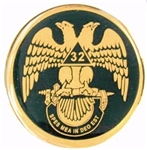 Scottish Rite Wings Down auto emblem