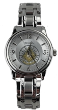Past Master Watch by Bulova silver tone