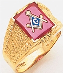Masonic Ring - 9938 - open back