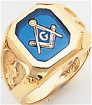 Masonic Ring - 9948 - solid back