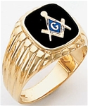 Masonic Ring - 9962 - solid back