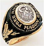 Masonic Ring with 3 pt diamond - 9966