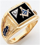 Masonic Rings with 1/2 pt diamond - 9967