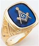 Masonic Ring - 9969 - solid back
