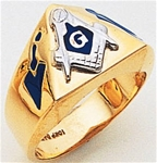Masonic Gold Ring - 9974