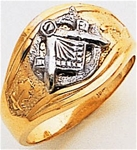 Masonic Gold Ring - 9975