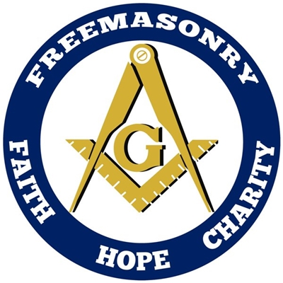 Freemasonry Aluminum Car Emblem - Faith Hope Charity