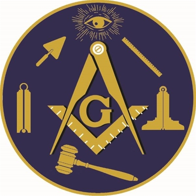 Masonic Aluminum Car Emblem - Working Tools