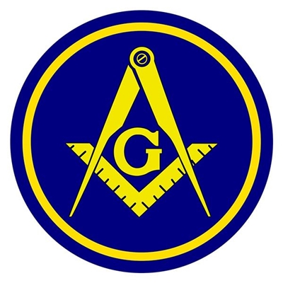 Masonic Aluminum Car Emblem - Square Compass & G