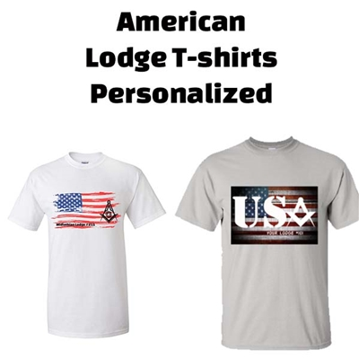 Masonic American Custom T-shirt