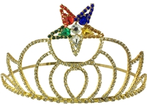 O.E.S. Crown Goldtone