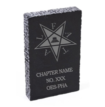 OES Chapter Custom Marble Paperweight