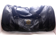 Masonic engraved Leather Travel Bag