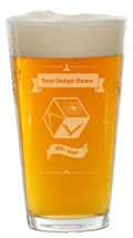 PM or Lodge 16 oz pint glass